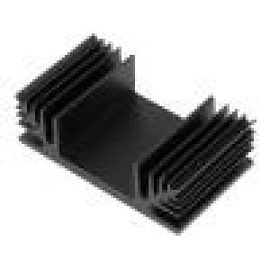 Chladič lisovaný TO3 černá L:37,5mm W:65mm H:20mm 3K/W