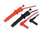 PCX-W3 Měřicí šňůra silikon 1m černá a červená 2x měřicí šňůra 600V