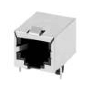 Zásuvka RJ12 PIN:6 stíněný Uspořádání výv:6p6c THT úhlový