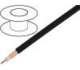 Kabel koaxiální RG213 licna Cu PVC černá 100m Ø10,3mm