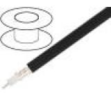 Kabel koaxiální RG214 licna Cu PVC černá 100m Ø10,8mm