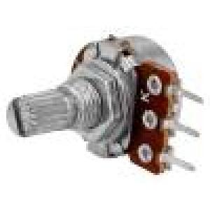 Potenciometr axiální jednootáčkový 100kΩ 63mW ±20% THT 6mm