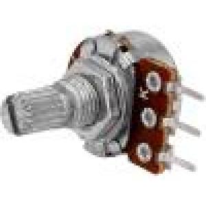Potenciometr axiální jednootáčkový 1kΩ 63mW ±20% THT 6mm kov