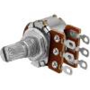 Potenciometr axiální jednootáčkový 100kΩ 63mW ±20% na kabel