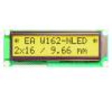 Display: LCD alphanumeric STN Positive 16x2 yellow-green LED