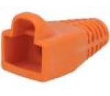 Krytka vidlice RJ45 barva oranžová 6mm