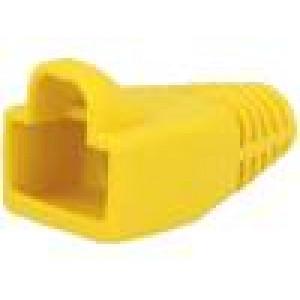 Krytka vidlice RJ45 barva žlutá 6mm