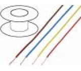 Kabel LgY Cu 0.5mm2 PVC beige-white 300/500V