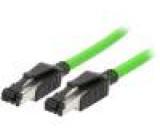 Patch kabel SF/UTP 5 drát Cu PVC 5m RJ45 vidlice, z obou stran