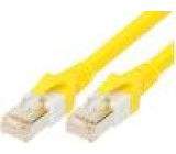 Patch kabel S/FTP 6 propojení 1:1 drát Cu PUR FRNC 2m Žíly: :8