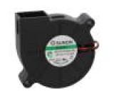 Ventilátor: DC blower 12VDC 51,7x51,6x15mm 9,18m3/h 42,2dBA