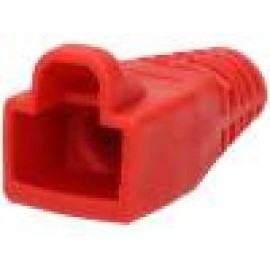 Krytka vidlice RJ45 barva červená 6mm