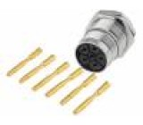 Konektor M23 Zajištění: sešroubováním, vnější závit zásuvka