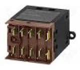 Stykač 3-pólový Pomocné kontakty: NO 24VDC 9A NO x3 PCB