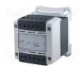 Transformátor bezpečnostní 400VA 230VAC 24V IP20 Montáž: DIN