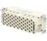 Konektor HAN zásuvka Han HMC PIN:64 velikost 24B krimpovací