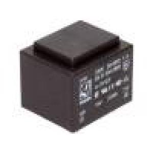 Transformátor: zalévaný 2VA 230VAC 15V 133mA Montáž: PCB 99g
