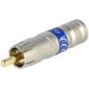 Zástrčka RCA vidlice krimpovací Kabel: RG6 75Ω 3GHz