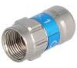 Zástrčka F vidlice přímý RG6 7,1mm šroubovací (twist-on)