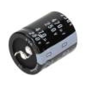 Kondenzátor elektrolytický THT 470uF 250V Ø30x35mm ±20%