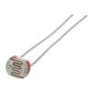 PGM5616D Fotorezistor 100mW 5÷10kΩ 560nm Montáž: THT 150VDC Ø:5mm