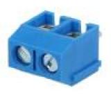 Svorkovnice do plošného spoje úhlové 90° 5mm póly:2 1,5mm2