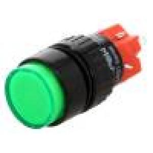 Přepínač tlačítkový 1-polohové SPDT 3A/250VAC 2A/24VDC není