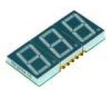 Zobrazovač LED SMD trojmístný 7-segmentový 14,22mm
