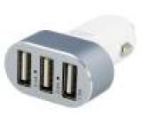 Automobilový Uvýst:5V Výv: USB A zásuvka x3 12÷24VDC