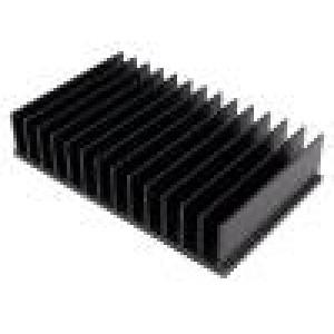 Chladič lisovaný žebrovaný černá L:100mm W:165,5mm H:35mm