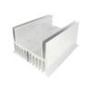 Chladič lisovaný U L:150mm W:124mm H:80mm 1K/W hliník