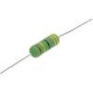 Rezistor drátový vysokonapěťový THT 56Ω 3W ±5% Ø6,5x17,5mm