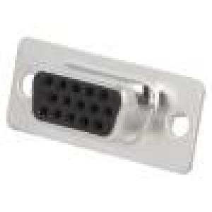 Zástrčka D-Sub HD PIN:15 zásuvka lisované kontakty pájení