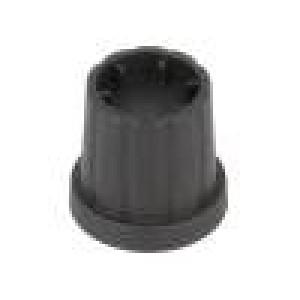 Knoflík s límcem plast Pr.hříd:4mm Ø16,5x19,2mm černá