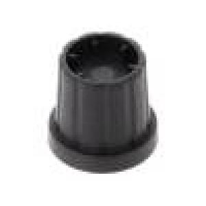 Knoflík s límcem plast Pr.hříd:6mm Ø16,5x19,2mm černá