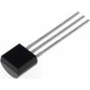 BC547BBU Tranzistor: NPN bipolární 45V 100mA 500mW TO92