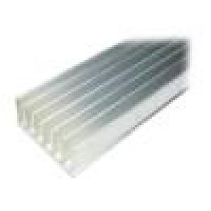 Chladič lisovaný žebrovaný L:10000mm W:78mm H:35mm hliník