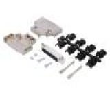 Zástrčka D-Sub PIN:25 zásuvka stíněný pájení na kabel
