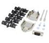 Zástrčka D-Sub PIN:9 vidlice stíněný pájení na kabel