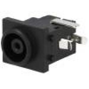 Zásuvka napájecí DC zásuvka 6,5mm 4,3mm s vypínačem THT 2A