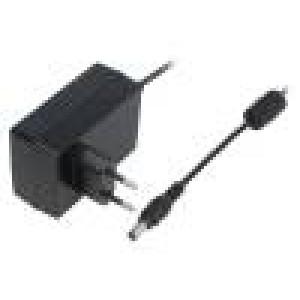 Zdroj spínaný 18VDC 1A Výv:5,5/2,1 18W Vidlice: EU 79x54x33mm