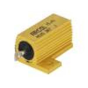 Rezistor drátový s radiátorem přišroubováním 2,7Ω 25W ±5%