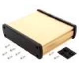 Kryt univerzální X:146,6mm Y:129mm Z:41,6mm hliník zlatá