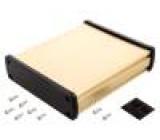 Kryt univerzální X:146,6mm Y:169mm Z:41,6mm hliník zlatá