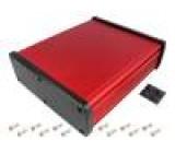 Kryt univerzální X:177,6mm Y:209mm Z:61,1mm hliník červená