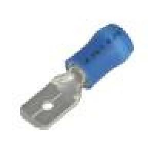 Konektor plochý 6,3mm 0,8mm kolík 1÷2,5mm2 krimpovací modrá