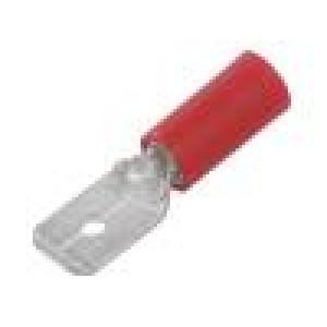 Konektor plochý 6,3mm 0,8mm kolík 0,5÷1,5mm2 krimpovací