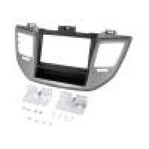 Rámeček pro autorádio 2 DIN Hyundai černá a stříbrná