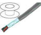 Kabel UL AWM 10002,UL AWM 2464 licna Cu PVC šedá 300V 50m