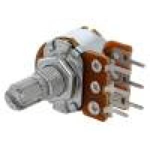 Potenciometr axiální jednootáčkový 500kΩ 63mW ±20% THT 6mm